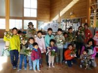 高山・市民の森 森林教室実施報告<しめ縄づくり>