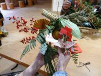 高山・市民の森 森林教室実施報告<しめ縄の正月飾りづくり>